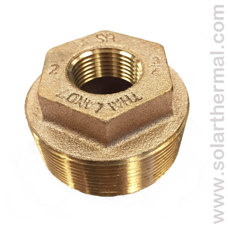 Lead free hex head reducer bushing quot male npt