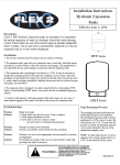 Flexcon FLEX2PRO HTX & SXHT Series Installation Instructions