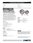Watts Lead Free Gauge Specification Sheet