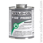 PVC Primer, Weld-On P-68, for PVC and CPVC pipe