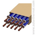 Vacuum Tube Collector pipes (10 tubes) - S-Power Heat Pipe (HP), Double coating, 2.0 meters long