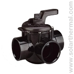Pentair Black PVC 3-Way Manual Valve (2