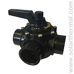 Praher Black PVC 3-Way Manual Valve (1.5