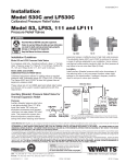 Watts Pressure Relief Valve Series 53 Spec Sheet
