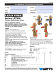 Watts Tankless Shutoff Valves Spec Sheet