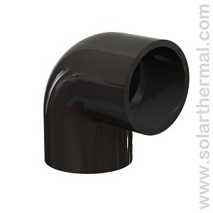 "Black PVC Elbow 90 - 2"" Slip to Slip, Schedule 40"