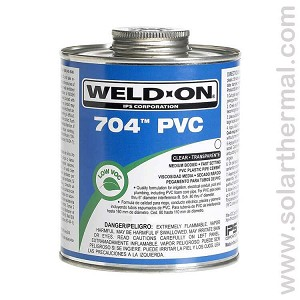 Clear PVC Pipe Cement, Medium body - Weld-On 704