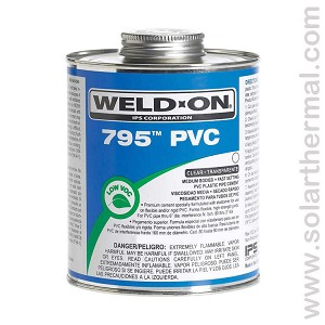 Clear PVC Pipe Cement, Medium body - Weld-On 795