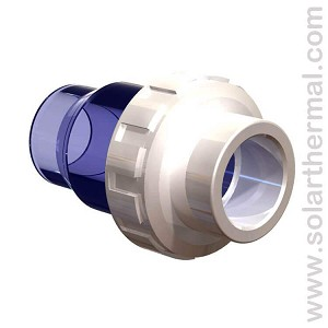 "PVC Check Valve - 1.5"" Slip to Slip, Schedule 40, White"